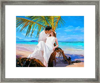 Framed Print featuring the painting Island Honeymoon by Tim Gilliland