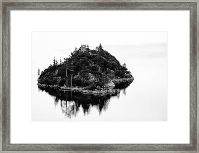Island In A Lake Framed Print