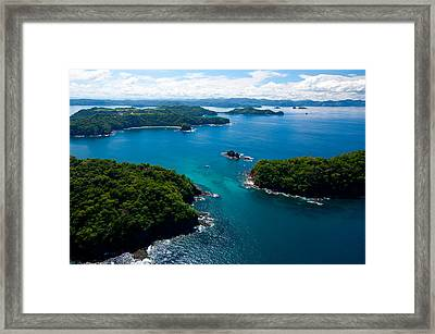 Island In Pacific Ocean, Four Season Framed Print by Panoramic Images