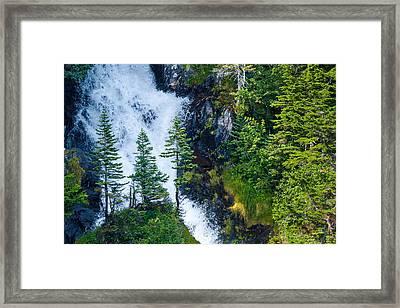 Island In The Cascade Framed Print by Adam Pender