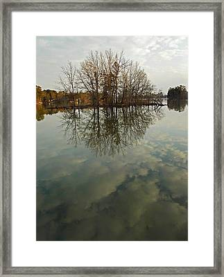 Island In The Clouds Framed Print