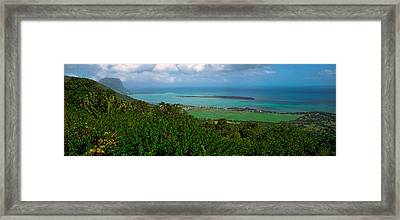 Island In The Indian Ocean, Mauritius Framed Print
