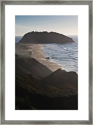 Island In The Pacific Ocean, Point Sur Framed Print by Panoramic Images