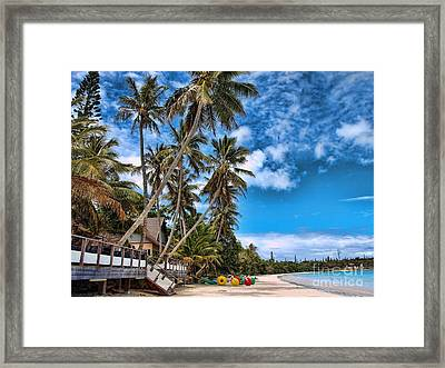 island in the Pacific Framed Print by Trena Mara