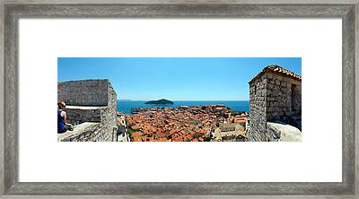 Island In The Sea, Adriatic Sea, Lokrum Framed Print by Panoramic Images