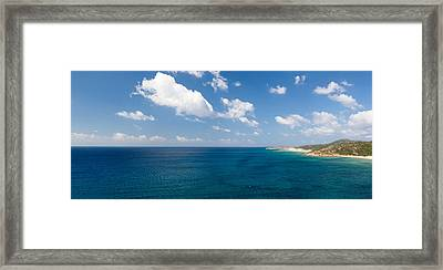 Island In The Sea, Costa Del Sol, Torre Framed Print by Panoramic Images
