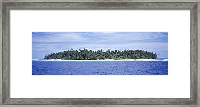 Island In The Sea, Indonesia Framed Print