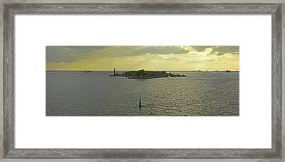 Island In The Sea, Neva Bay, Saint Framed Print