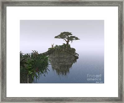 Island In The Sky Framed Print