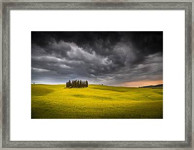 Island In The Storm Framed Print by Stefano Termanini