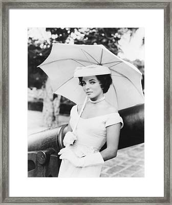 Island In The Sun, Joan Collins, 1957 Framed Print by Everett