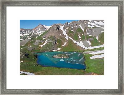 Island Lake 2 Framed Print by Aaron Spong