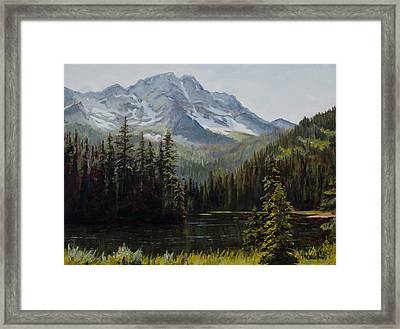 Island Lake Framed Print