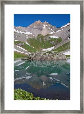 Island Lake Reflection Framed Print
