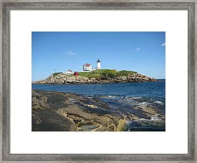 Island Lighthouse Framed Print by Melissa McCrann