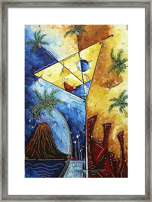 Island Martini  Original Madart Painting Framed Print