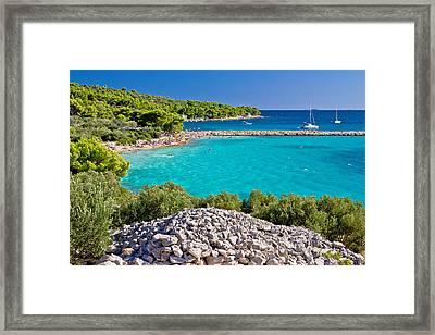 Island Murter Turquoise Lagoon Beach Framed Print