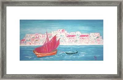 Island Of Crete Framed Print