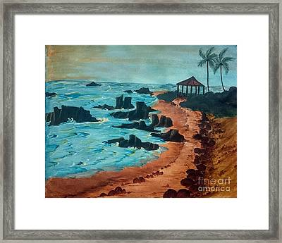 Island Of Dreams Framed Print by KarishmaticArt -  Karishma Desai