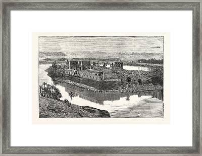 Island Of Philae, Scene On The Nile, Egypt Framed Print