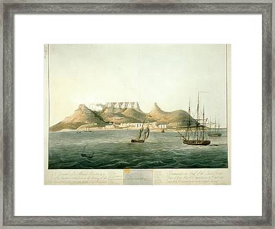 Island Of Saint Helena Framed Print by British Library