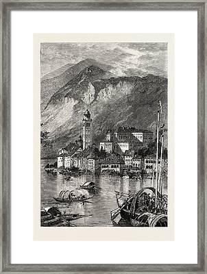 Island Of St. Giulio, Lake Of Orta, The Italian Lakes Framed Print