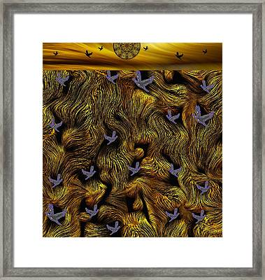 Island Of The Paradise Birds Framed Print