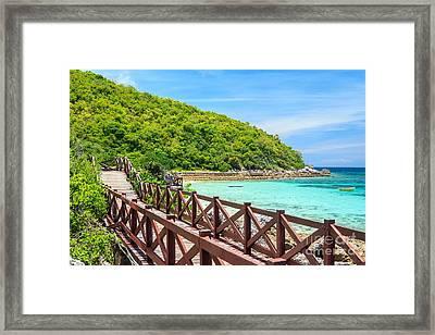 Island Paradise Beach Framed Print by Niphon Chanthana