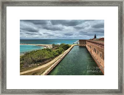 Island Protection Framed Print by Adam Jewell