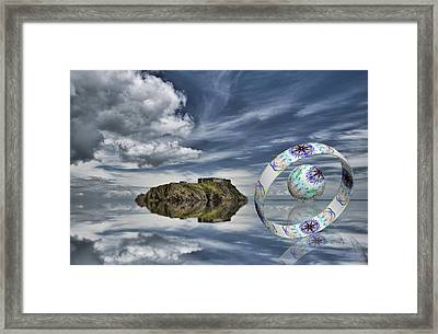 Island Ring And Sphere Framed Print by Steve Purnell