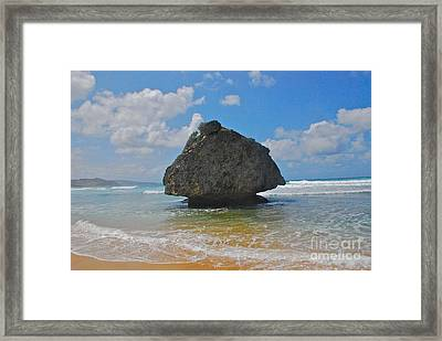 Island Rock Framed Print