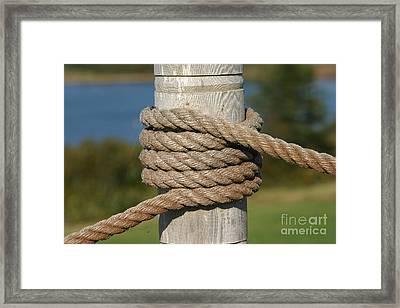 Island Ropework Framed Print