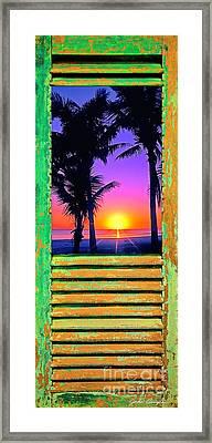 Island Shutter Framed Print