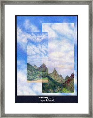 Island Sky Details Framed Print by Kenneth Grzesik