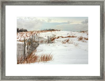 Island Snow Framed Print