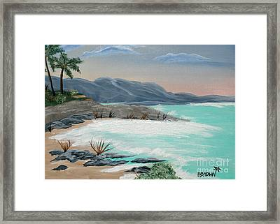 Island Solitude Framed Print