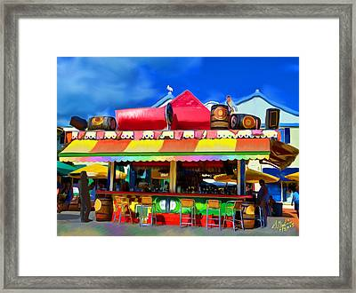 Island Stand Framed Print by Gerry Robins
