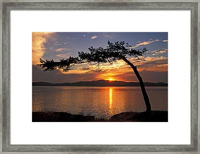 Framed Print featuring the photograph Island Sunrise by Inge Riis McDonald