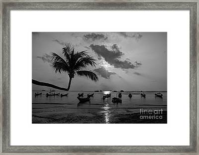 Island Sunset Framed Print by Alex Dudley