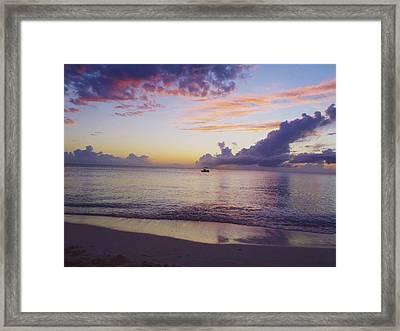 Island Sunset Framed Print by Carey Chen