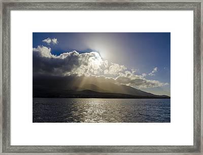 Island Sunset Framed Print