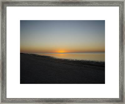 Framed Print featuring the photograph Island Sunset by Robert Nickologianis