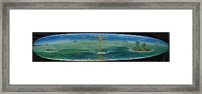 Island Surf Dreams Framed Print