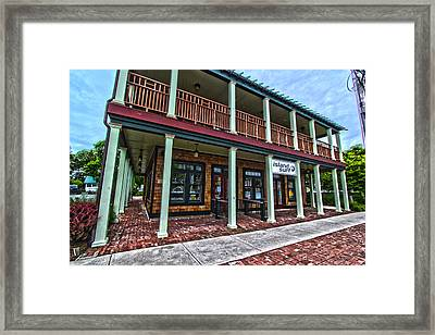 Island Surf Shop Framed Print