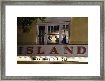 Island Theater Framed Print