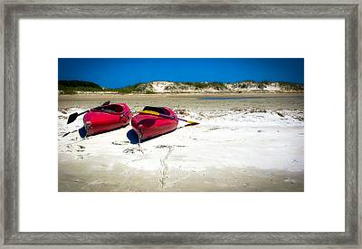 Island Time Framed Print by Karen Wiles