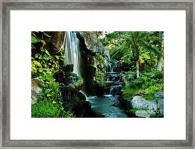 Island Waterfall Framed Print