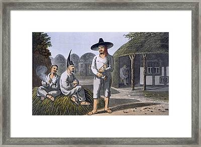 Islanders Of Sir James Halls Group, 1820 Framed Print by English School