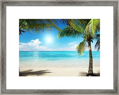 Islands In The Caribbean Sea Framed Print by Boon Mee