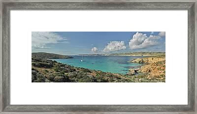 Islands In The Sea, Blue Lagoon Framed Print